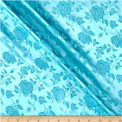 Rose Satin Jacquard Aqua