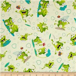 Frogland Friends Tossed Frogs And Hearts Cream