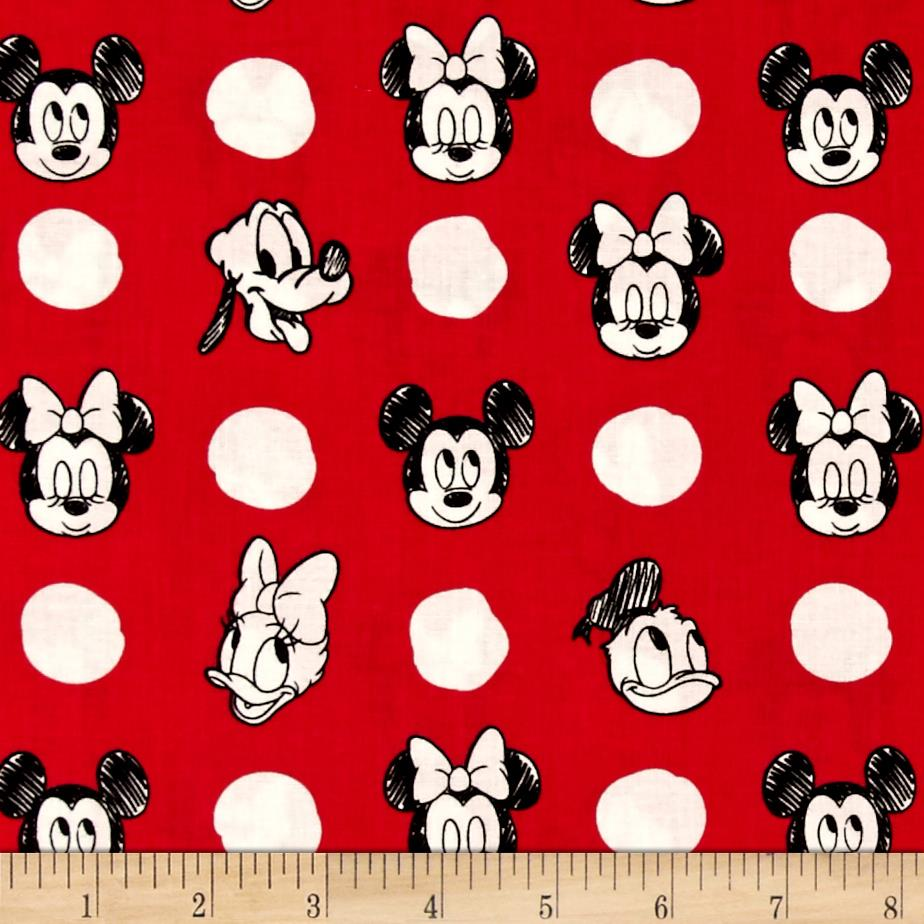 Disney Mickey Mouse & Friends Character Jumbo Dots Ruby