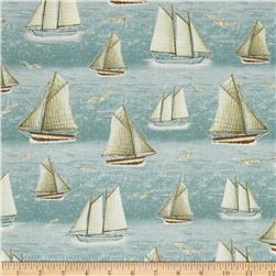 Seaside Sailboats Blue Frog