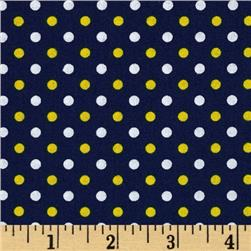 Fan-Tastic Dot Navy/Yellow