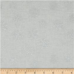 Magical Moments Silver Metallic Snowflakes White