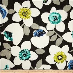 Contempo Cachet Large Floral Green/Charcoal