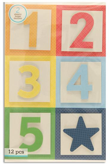 Martha Stewart Crafts Bright Block Number Stickers