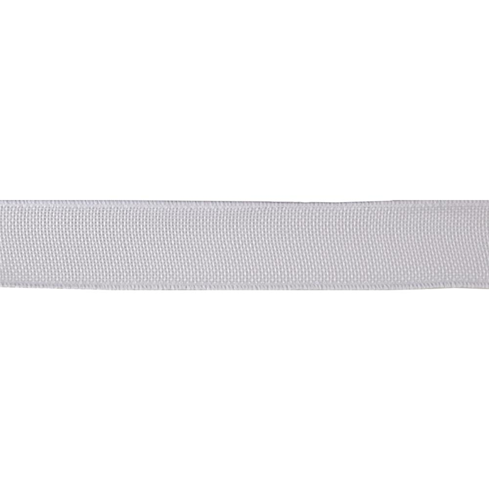 "May Arts 1 1/2"" Faux Burlap Wired Ribbon Spool White"