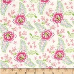 Cynthia's Dream Flannel Floral Cream