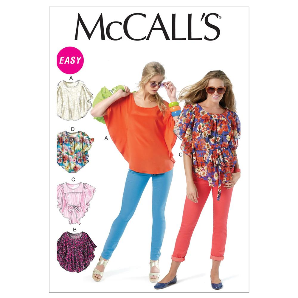 McCall's Misses' Tops and Belt Pattern M6510 Size 0Y0