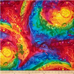 Timeless Treasures Fantasia Painted Abstract Multi