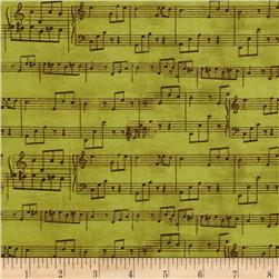 Wind Symphony Music Notes Green
