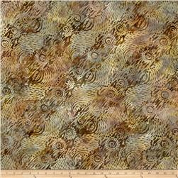 Batavian Batiks Dynamic Circles Light Brown