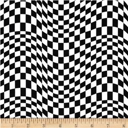 Timeless Treasures Geometric/Abstract Coordinates Wavy Check Piano Black