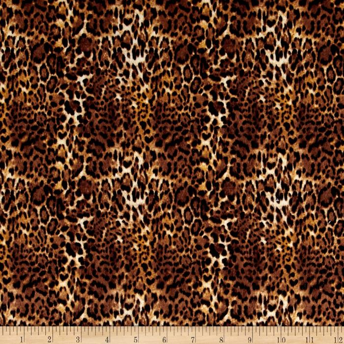 Flannel Animal Skins Mini Leopard Multi Fabric By The Yard