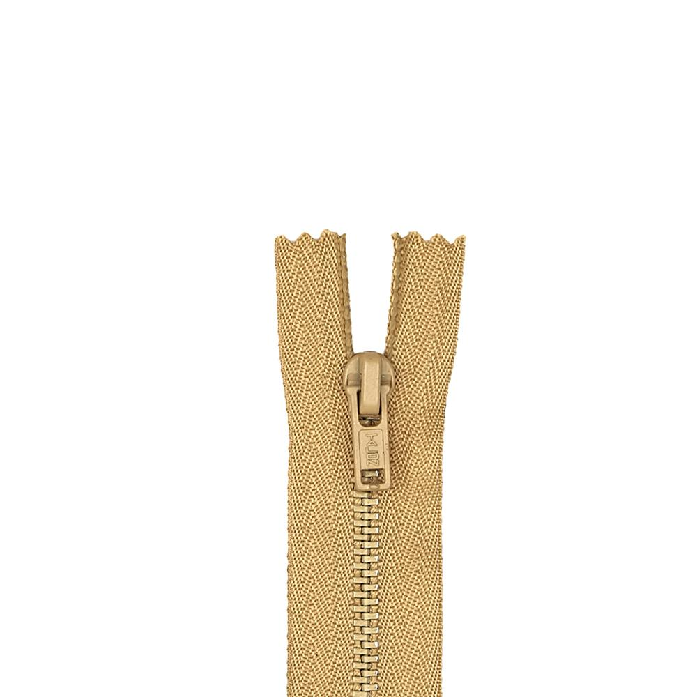 "Metal All Purpose Zipper 7"" Camel"