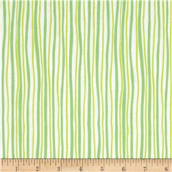 Kanvas Funny Bunnies Wavy Stripe Green/Lime
