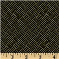 Oriental Traditions Metallic Trellis Weave Black