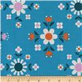 Cotton + Steel Welsummer Florametry Bright Blue