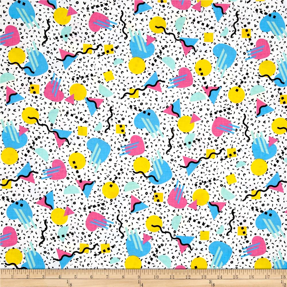 Tossed Shapes Dots White