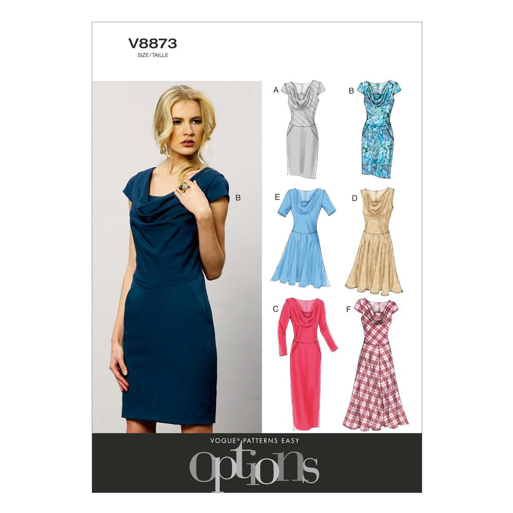Vogue Misses'/Misses' Petite Dress Pattern V8873 Size B50