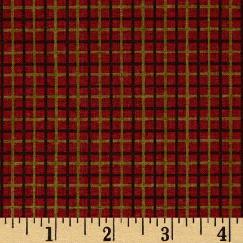 Woodland Christmas Plaid Red