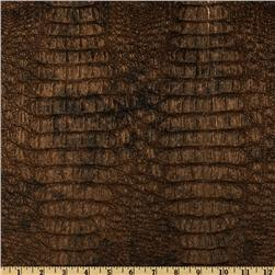 Faux Leather Gator Metallic Gilt Fabric
