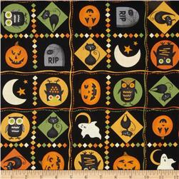 Scaredy Cats Patches Multi Fabric