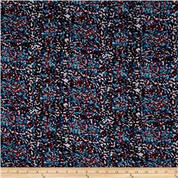 Rayon Challis Abstract Dots Multi