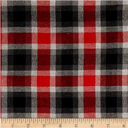 Yarn Dyed Flannel Plaid Red/Gray