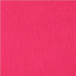 Stretch Rayon Slub Jersey Knit Hot Pink Fabric