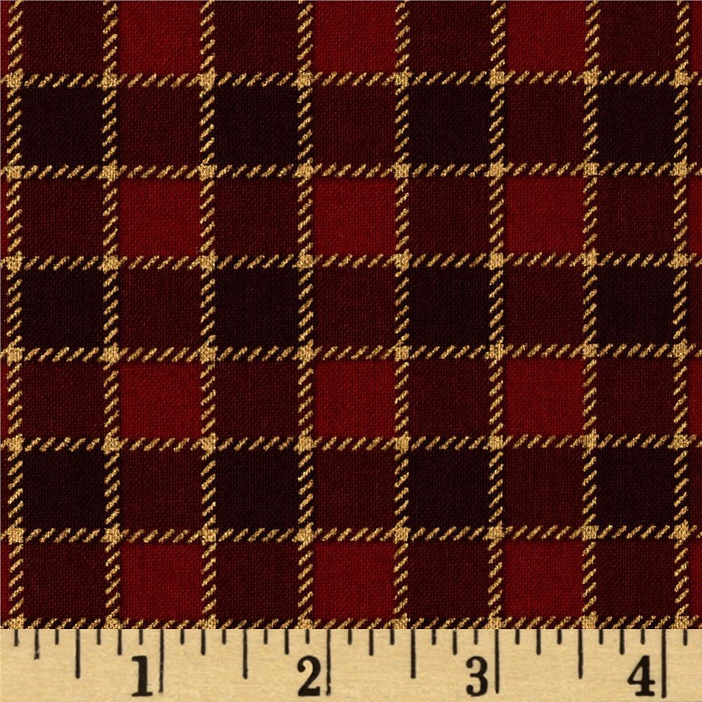 Arabesque Metallic Plaid Red/Brown