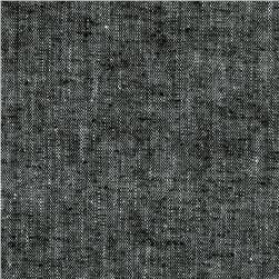 Kaufman Chambray Stretch Linen Black