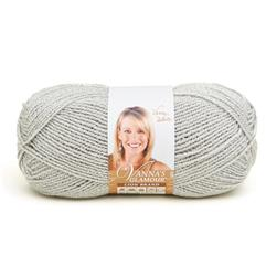Lion Brand Vanna's Glamour Yarn (150 ) Platinum