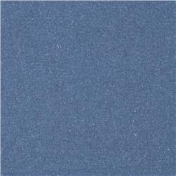 Raw Silk Noil Smoke Blue