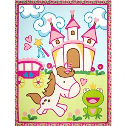 Unicorn Fantasy Panel Blue/Multi Fabric