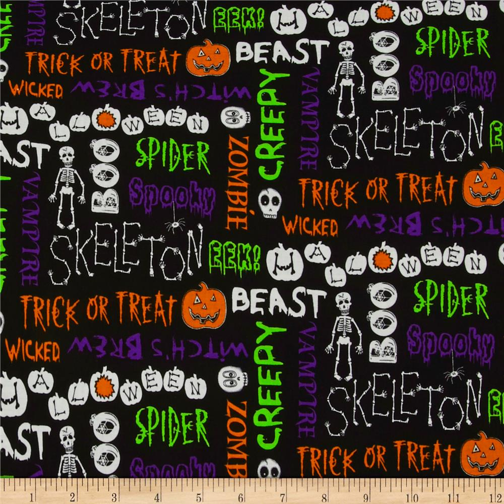 The Boo Crew Halloween Words Black With Multi