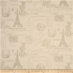 Premier Prints French Stamp Grey/Natural Fabric