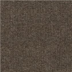 Wide Rib Knit Heather Stone Brown