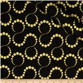 Orbit Metallic Swirl Dot Gold/Black