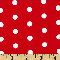 Dakota Jersey Knit Dots Red/ Powder White