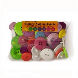 Dress It Up Super Value Pack Buttons Confetti Multi