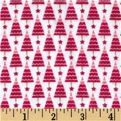 Riley Blake Home for the Holidays Flannel Tree Red