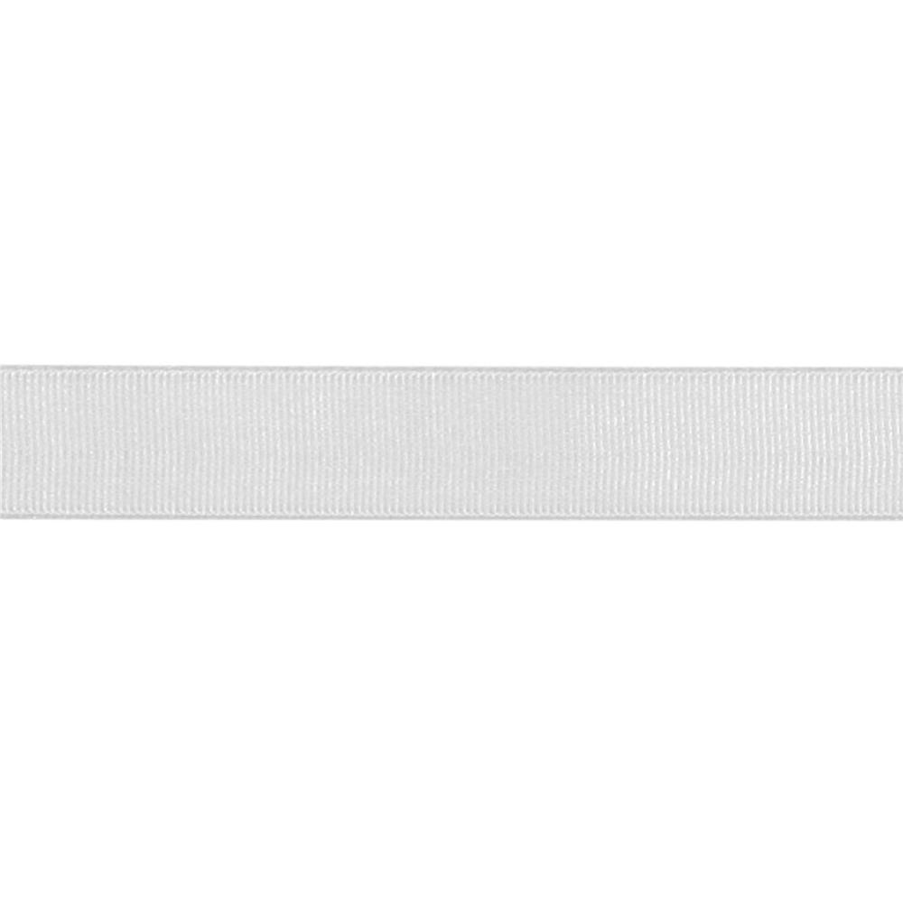 "May Arts 3/4"" Grosgrain Ribbon Spool Silver"