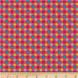 Lecien Spicy Scrap Multi Dot Pink