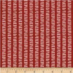 Romantic Olde Charleston Waves & Stripes Burgundy/Pink