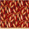 Quail Feathers Red