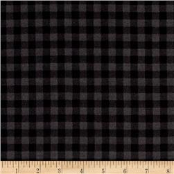 Kaufman Burly Beavers Flannel Check Smoke