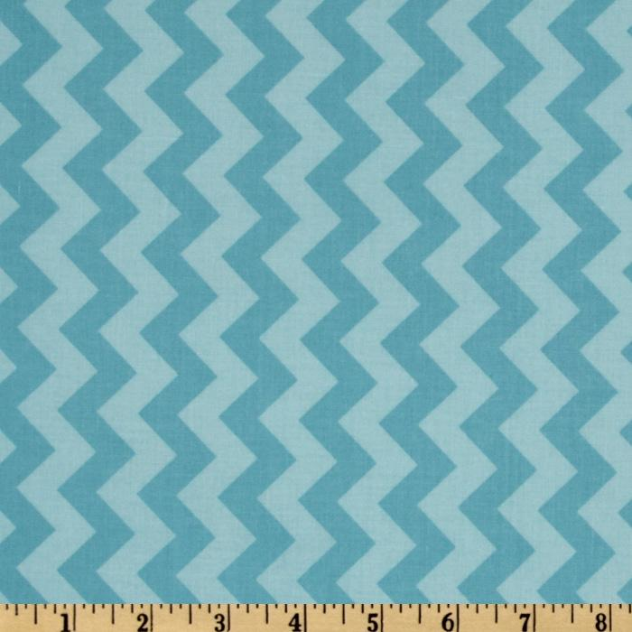 Riley Blake Chevron Small Tonal Aqua