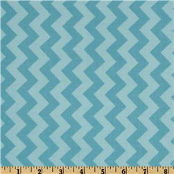 Riley Blake Chevron Small Tonal Aqua Fabric