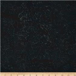 Jinny Beyer Malaam Batiks Fountain Stylized Vine Black