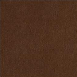 Preshrunk Crossroads Denim Coffee House Brown Fabric