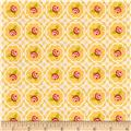 Riley Blake Hello Gorgeous Rose Grid Mustard